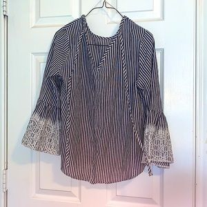 Roommates striped bell sleeve top